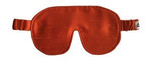 orange silke sovemaske