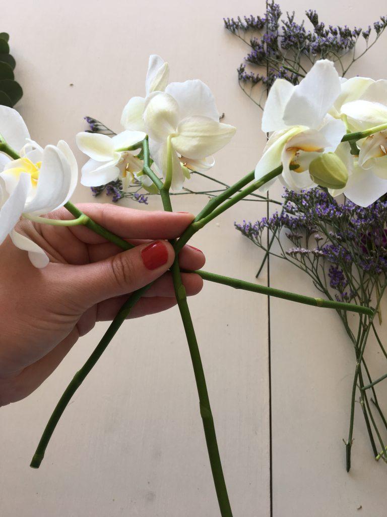 blomster binding buket
