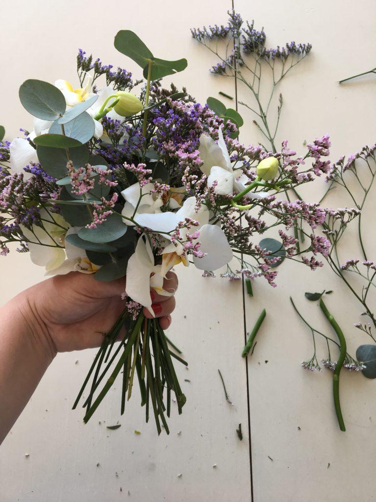 blomster binding brudebuket