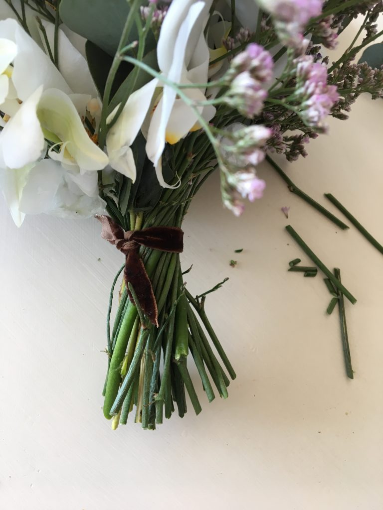 blomsterbinding brudebuket