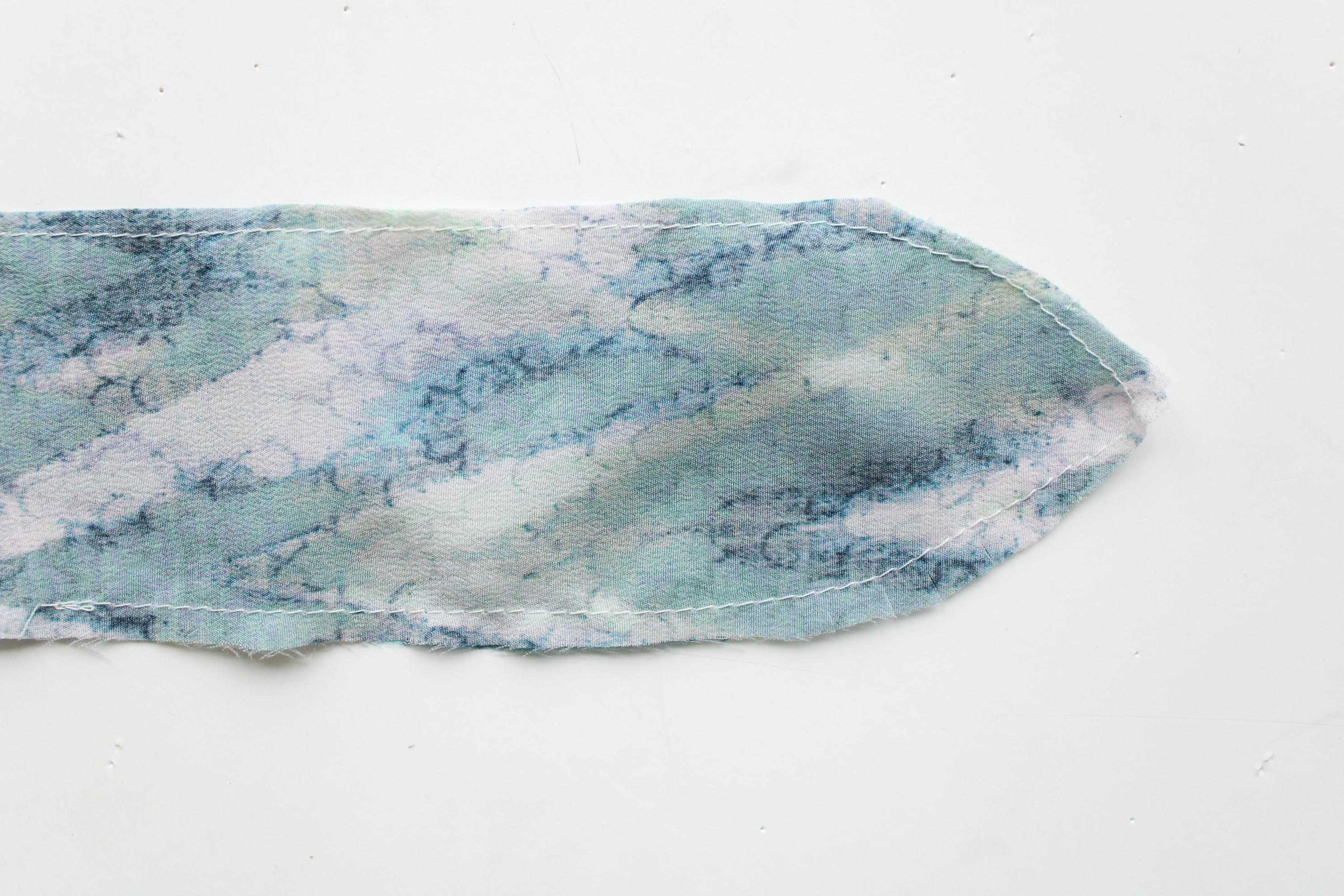 scrunchie med tørklæde