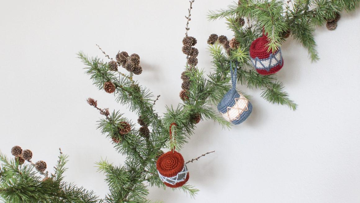 Hæklet julepynt | hæklet tromme
