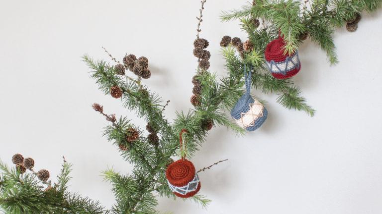 hæklet juletromme hæklet julepynt opskrift juletromme