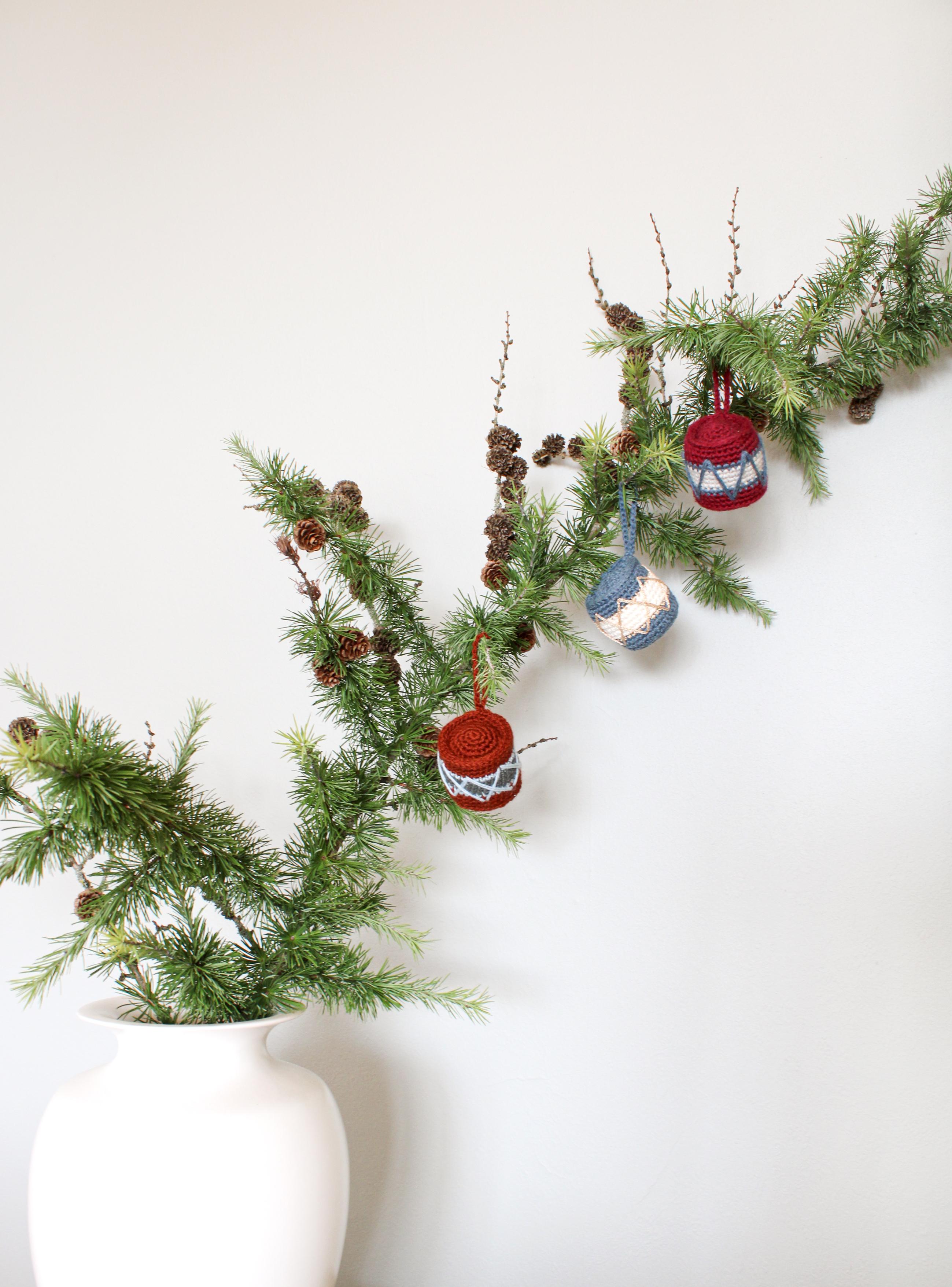 hæklet tromme crochet ornament