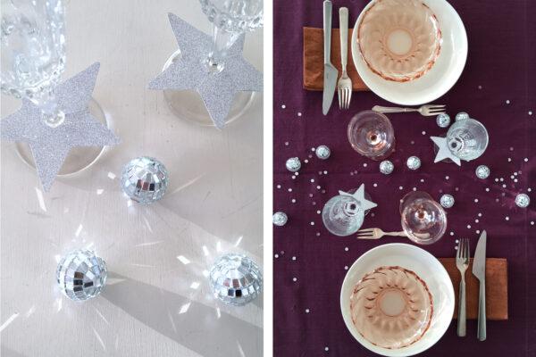 DIY nytårspynt | stjerne på champagneglasset