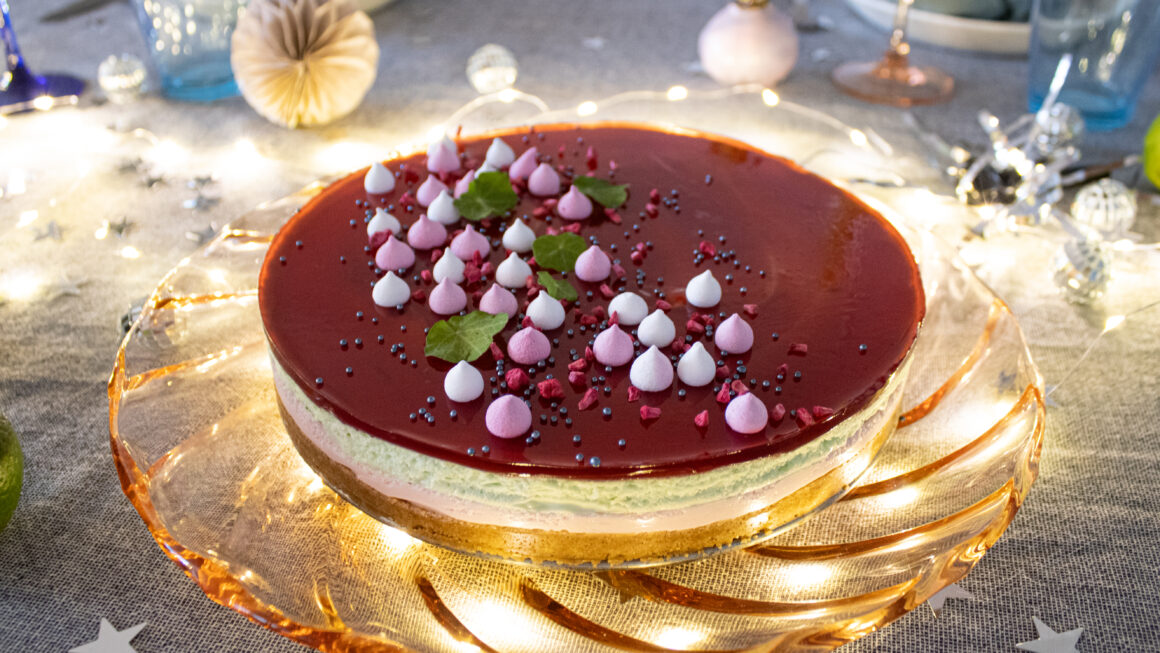 Opskrift på cheesecake i pastelfarver