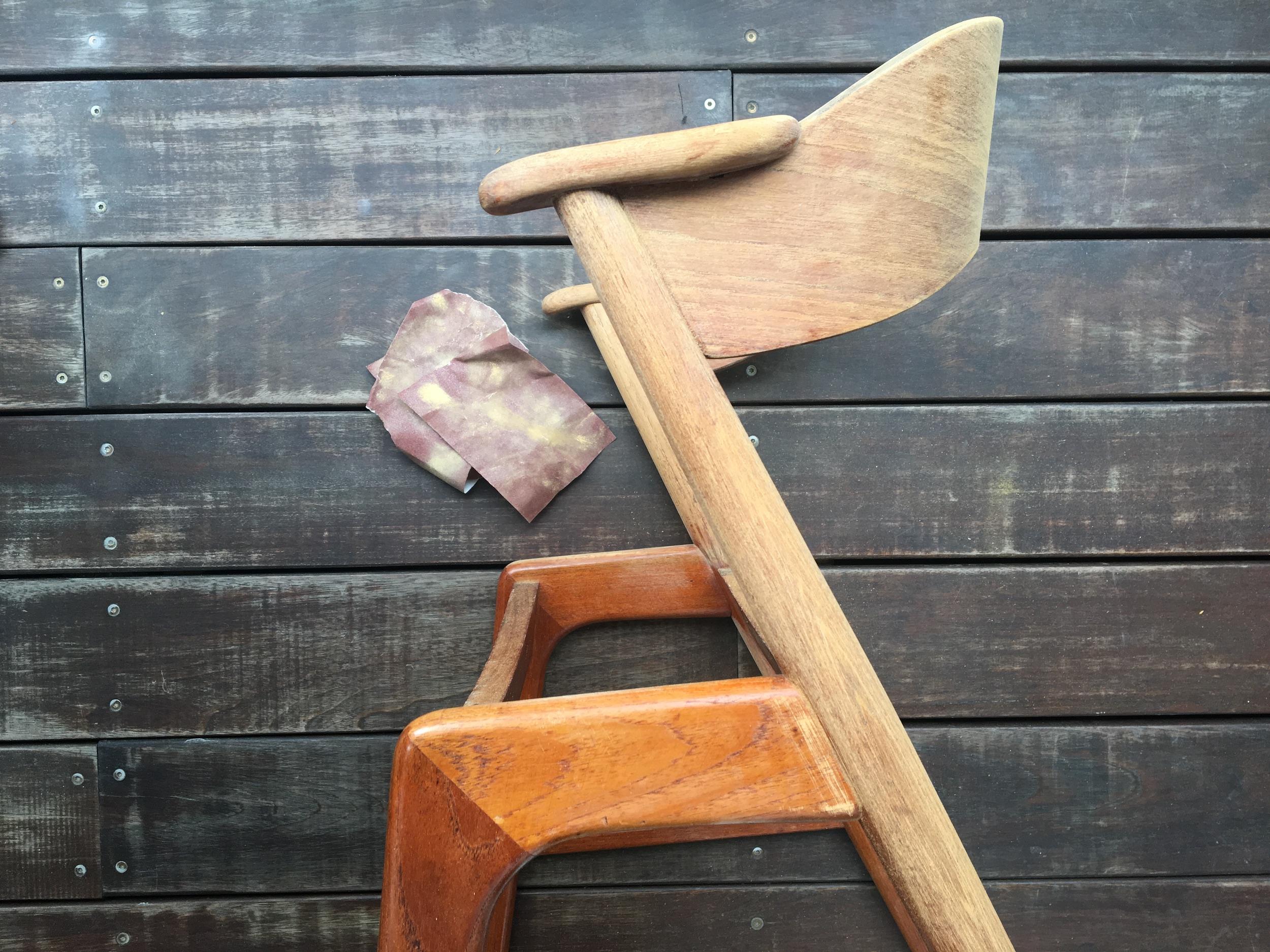 slibning og lakering stole