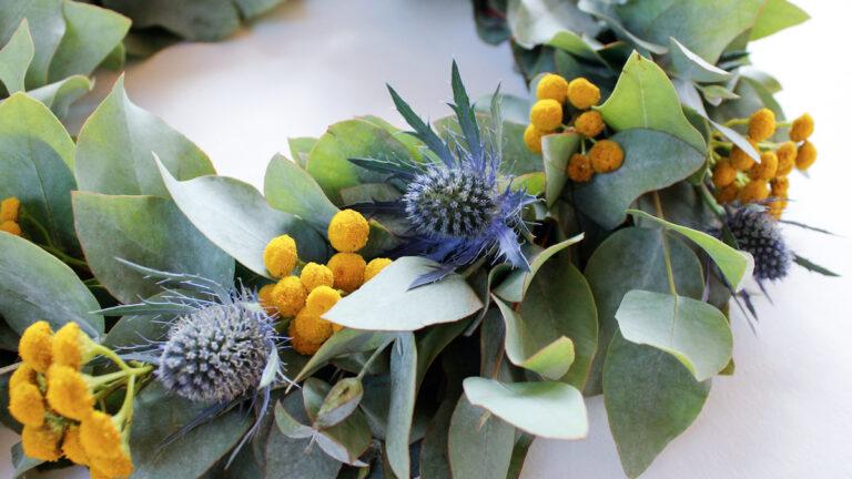 diy wreath blomsterkrans